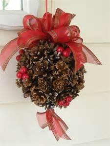 Pine Cone Kissing Ball