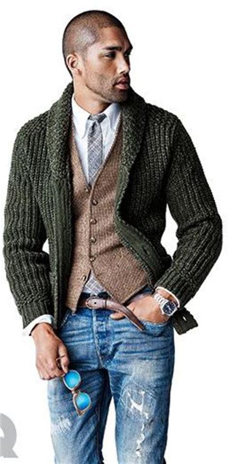 gentlemen stylish   chunky knit sweaters divine