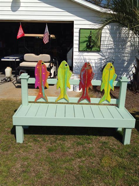 fish bench beach furniture beach house decor beach decor