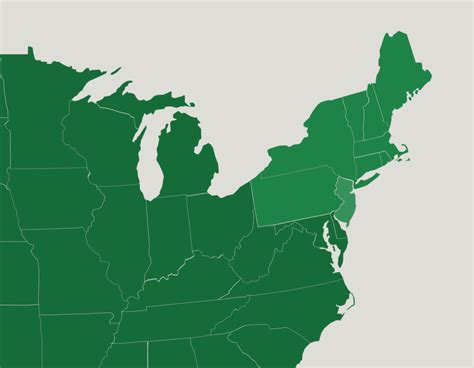 States In The Northeast