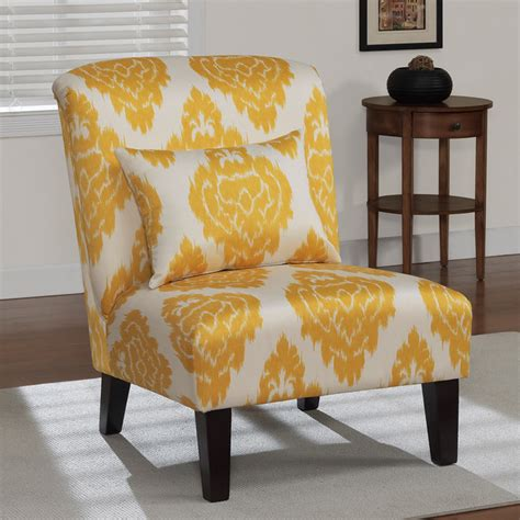 yellow ikat accent chair contemporary armchairs