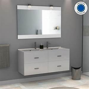 meuble salle de bain noir et blanc With salle de bain design avec salle de bain vasque double
