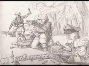 WW2 Battle Drawings