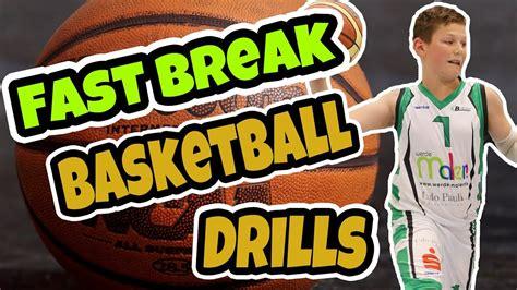 fast break basketball drills  kids youtube