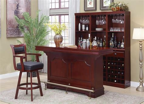 bar units traditionaltransitional traditional cherry bar unit  servers price busters furniture