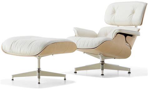 white chair with ottoman white ash eames lounge chair ottoman hivemodern com