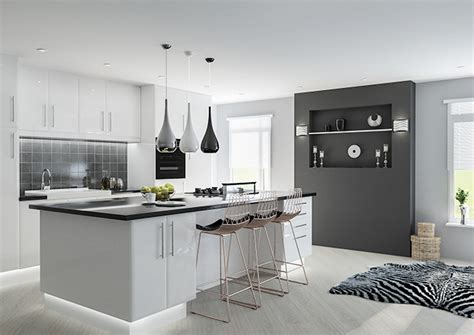Lincoln High Gloss White Kitchen Doors  Made To Measure