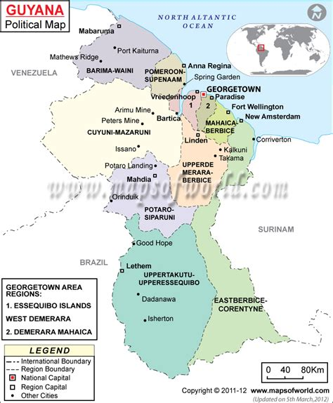 guyana river map