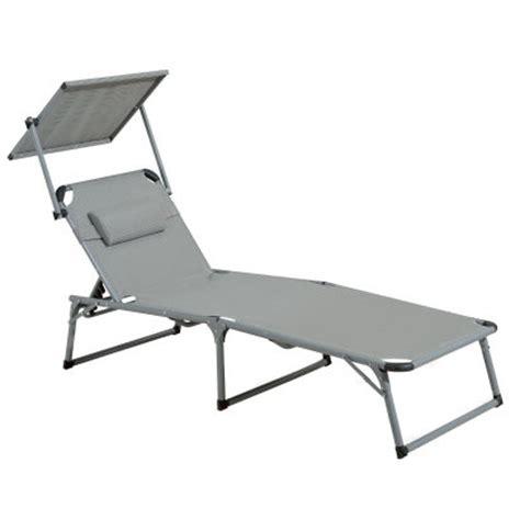 chaise longue bain de soleil avec pare soleil aldi