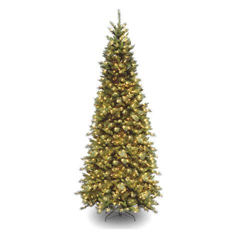 9 ft tiffany slim fir hinged pre lit christmas tree at