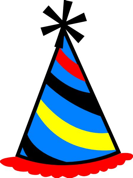 Birthday Hat Clipart Hat Blue Yellow Clip At Clker