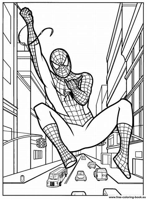 coloring pages spiderman page  printable coloring pages