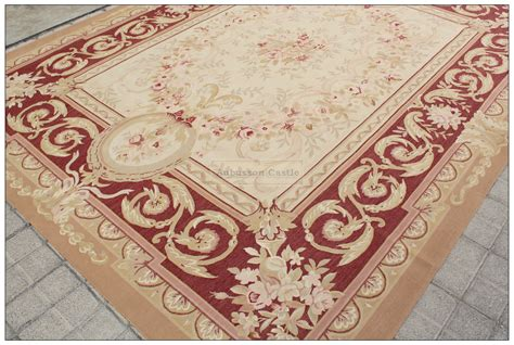 8 By 10 Rug by Antique Red Beige 8x10 Aubusson Area Rug Classic French
