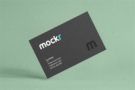 realistic business card mockup psd product mockups