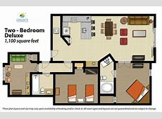 2 Bedroom Floor Plan Deluxe Picture of Legacy Vacation