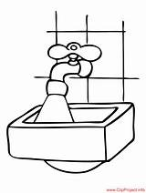 Sink Coloring Pages Washbasin Drawing Buildings Farm Sheet Getdrawings Sheets sketch template