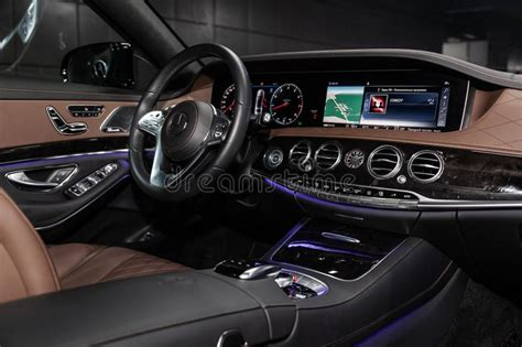 The lowest monthly installment starts. Novosibirsk, Russia - March 15, 2019: Mercedes Maybach S450 4Matic Editorial Photography - Image ...