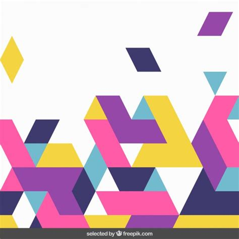 Shapes Background Colorful Shapes Background Vector Free