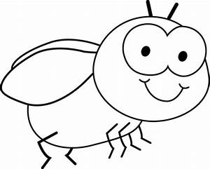 Black and White Fly Clip Art - Black and White Fly Image