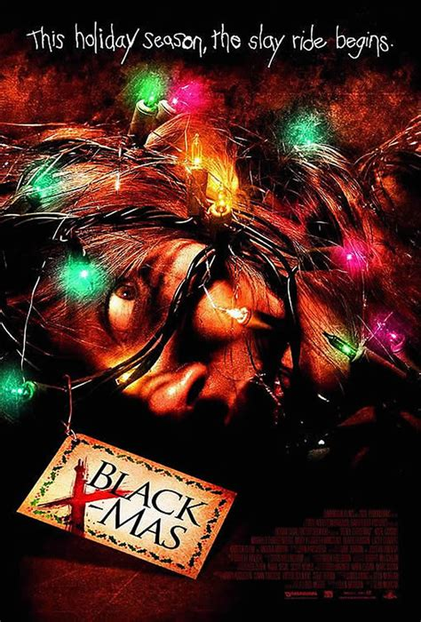 black christmas horror movie posters