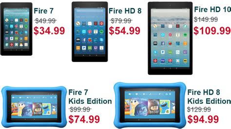 Amazon Fire 7, Fire Hd 8, Fire Hd 10, And Kids Edition