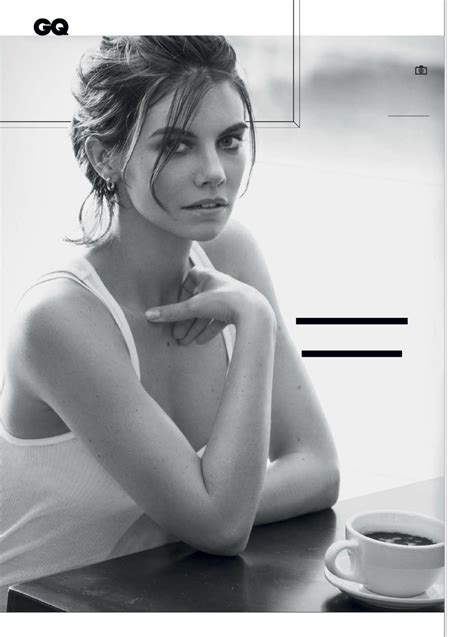 Lauren Cohan - All New GQ Photoshoot Pictures - Famous Nipple