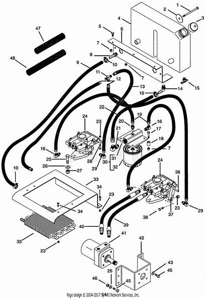 Hydraulic System Diagram Gravely Parts Pro Walk