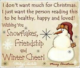 wishing you snowflakes friendship and winter cheer merry sayingimages