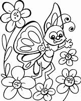 Coloring Flower Butterfly Yahoo Printable Results Flowers Colouring sketch template