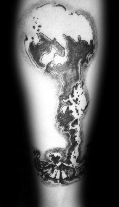 30 Mushroom Cloud Tattoo Designs For Men - Atomic Ink Ideas