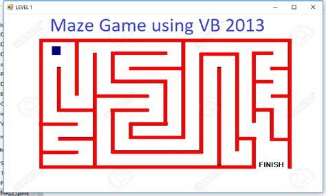 maze game  visual basic   source code sample