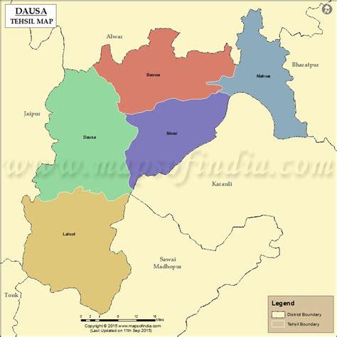 dausa tehsil map dausa tehsils