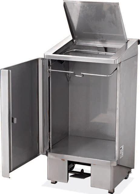 poubelle de cuisine professionnelle poubelle 120 litres electro broche ggz0002 ggz0002