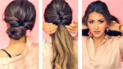 easy hair up styles for work 1 min everyday hairstyles for work with puff easy
