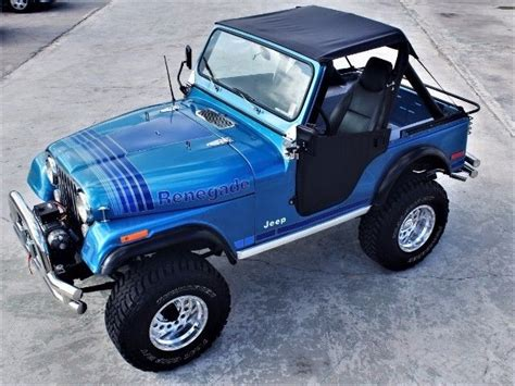 jeep cj renegade  miles blue  mamual  sale