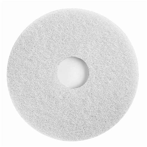 floor buffing pads types scrubble by acs 41 15 15 quot white polishing floor pad type