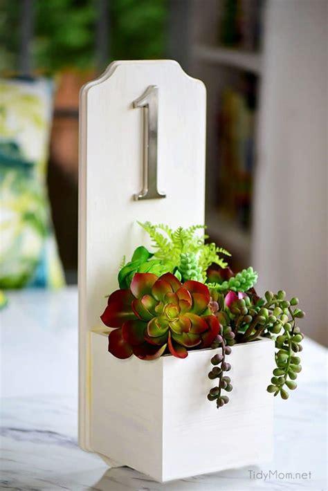address planter box diy tutorial  faux succulents