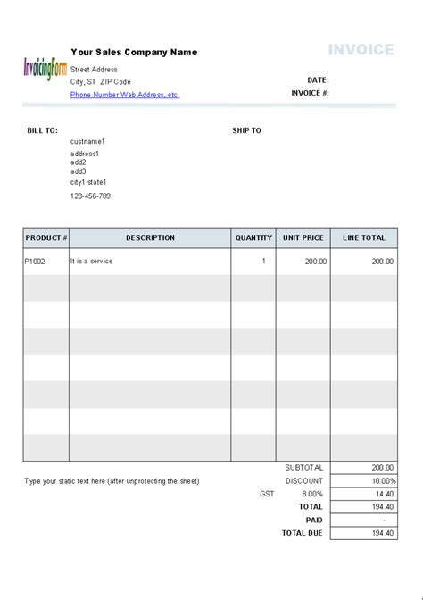 change invoice template  sage  results