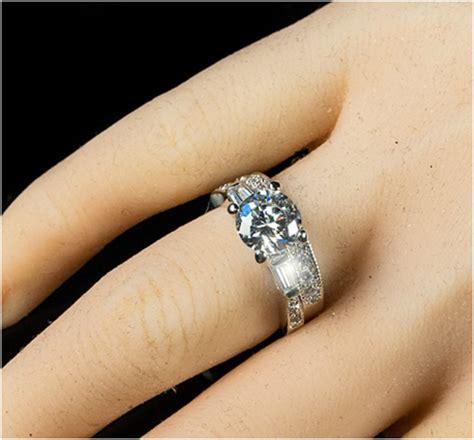 wedding ring connectors nita cut solitaire engagement wedding ring set 3 9939