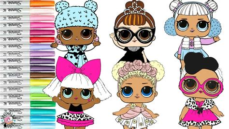 Lol Surprise Dolls Coloring Book Compilation Dollface