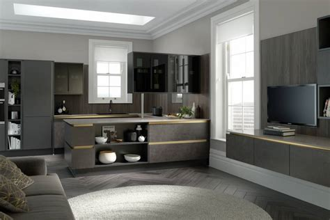 Milano Elements Kitchen in Artisan Grey and Dark Concrete