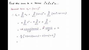Find The Sum To N Terms  1 2   3 2   5 2