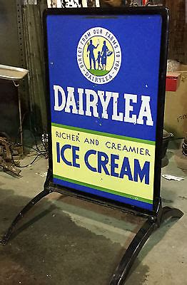 porcelain dairylea ice cream curb sign original great
