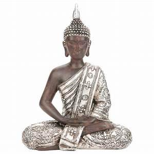 Statue Bouddha Pas Cher : statue bouddha argent 28cm ~ Teatrodelosmanantiales.com Idées de Décoration