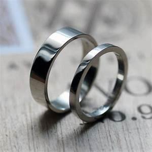 palladium wedding band set palladium band palladium ring With alternative wedding ring sets