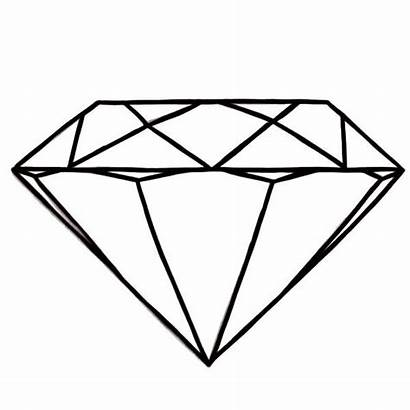 Diamond Coloring Shape Pages Round Clipart Shapes