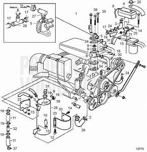 Volvo Penta Exploded View    Schematic Freshwater Cooling 5