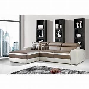Canape cuir canape d39angle made in italie pas cher a paris for Tapis chambre enfant avec canapé d angle cuir occasion