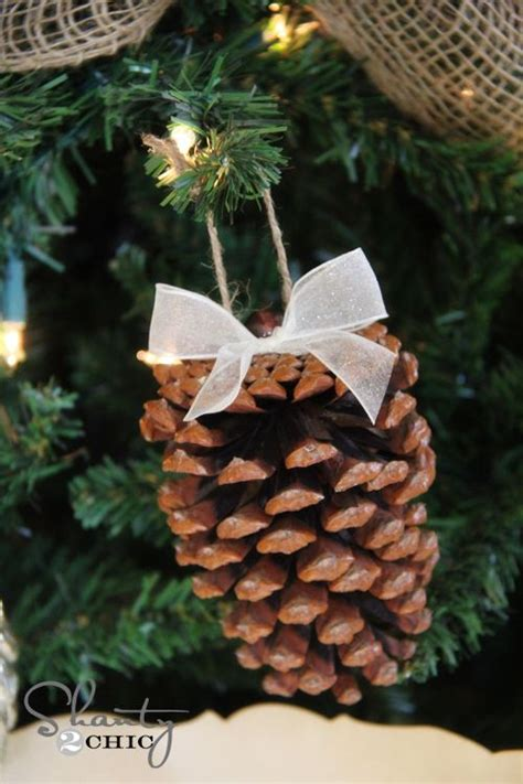 diy pine cone christmas ornaments diy pinecone ornaments my tree christmas ornament diy and crafts and trees
