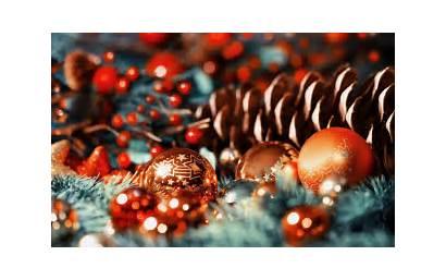 Ornaments Pine Bokeh Weihnachtsbilder Desktop Julefrokost Cones